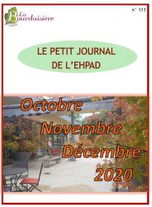 Petit Journal – octobre à décembre 2020