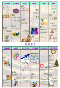 Calendrier Animations 2021